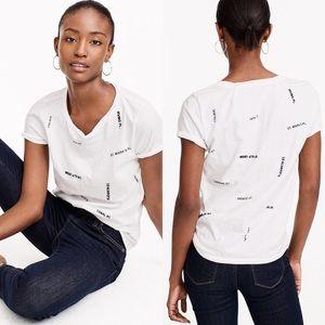 J. Crew Women's Streets of NYC New York T-Shirt XL